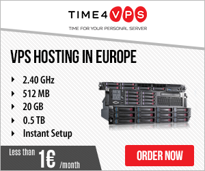 Time 4 VPS As low as 0.9 Euros
